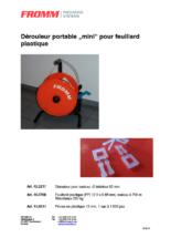 Kunststoffband-Miniabroller tragbar