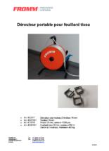 Gewebeband-Abroller tragbar