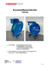 Kunststoffband-Abroller RO1-K fahrbar
