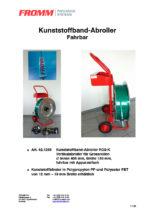 Kunststoffband-Abroller RO2-K fahrbar