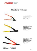 Stahlband-Scheren