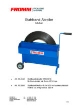 Stahlband-Abroller SF2 fahrbar