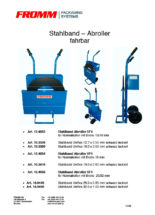 Stahlband-Abroller SF4 fahrbar